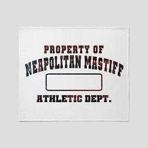 Property of Neapolitan Mastiff Throw Blanket
