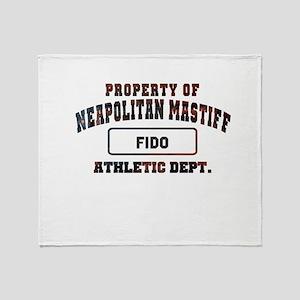 Personalized Neapolitan Mastiff Throw Blanket