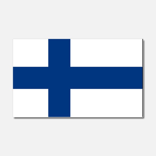 Finland - National Flag - Current Car Magnet 20 x