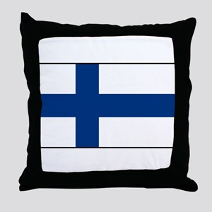 Finland - National Flag - Current Throw Pillow