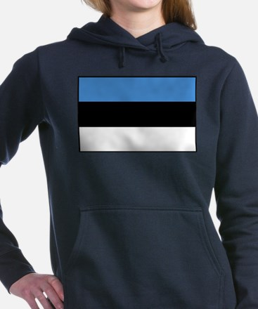 Estonia - National Flag - Current Women's Hooded S