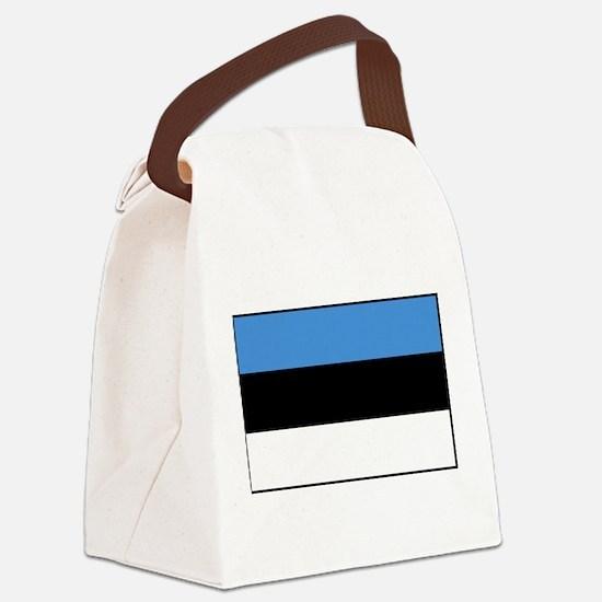 Estonia - National Flag - Current Canvas Lunch Bag