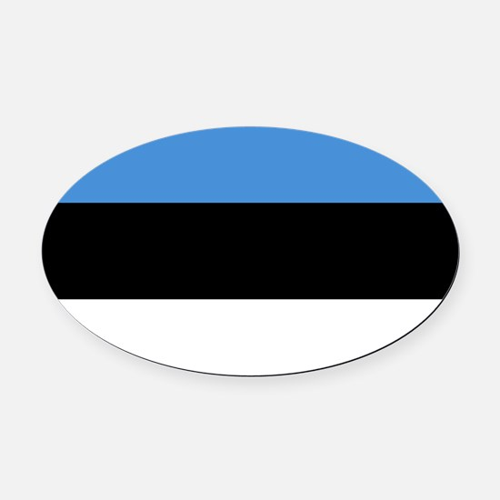 Estonia - National Flag - Current Oval Car Magnet