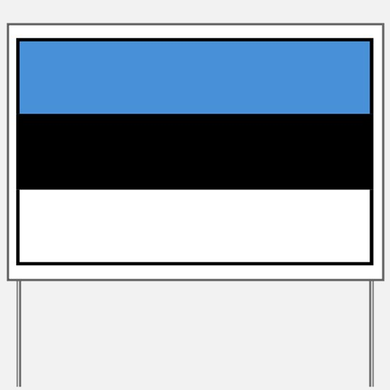 Estonia - National Flag - Current Yard Sign