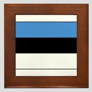 Estonia - National Flag - Current Framed Tile