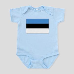 Estonia - National Flag - Current Infant Bodysuit