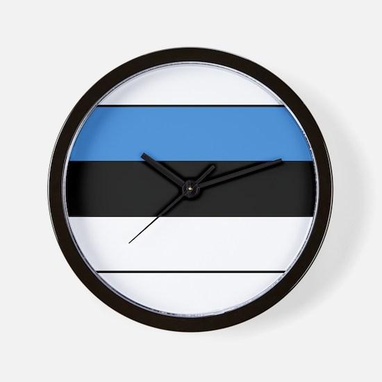 Estonia - National Flag - Current Wall Clock