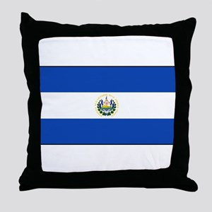 El Salvador - National Flag - Current Throw Pillow