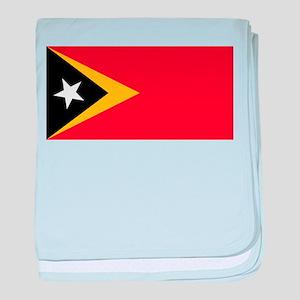 East Timor - National Flag - Current baby blanket