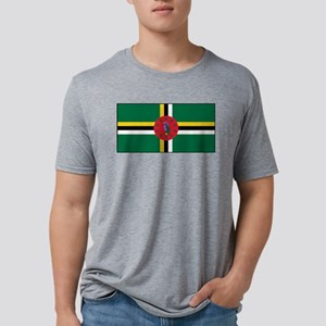 Dominica - National Flag - Current Mens Tri-blend