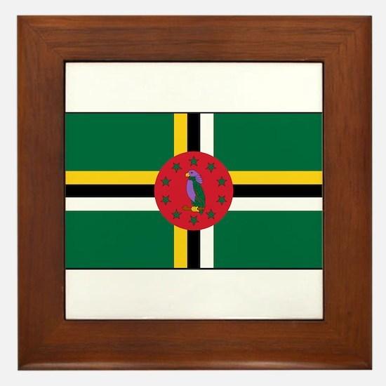 Dominica - National Flag - Current Framed Tile