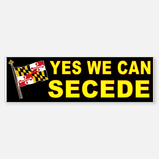 SECEDE MARYLAND Sticker (Bumper)
