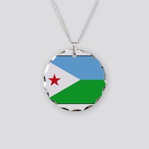 Djibouti - National Flag - Current Necklace Circle