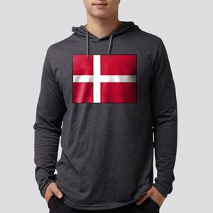 Denmark - National Flag - Current Mens Hooded Shir