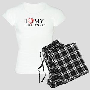 I Heart My Bulldogge Women's Light Pajamas