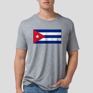 Cuba - National Flag - Current Mens Tri-blend T-Sh
