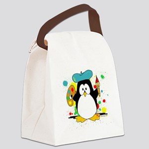 Artistic Penguin Canvas Lunch Bag