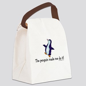 The penguin made me do it! Canvas Lunch Bag