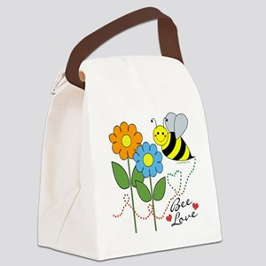 Bee Love Canvas Lunch Bag
