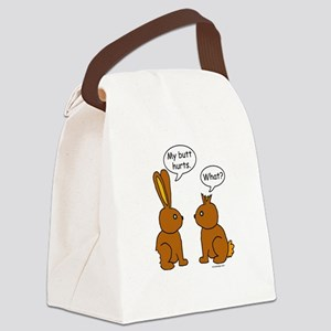 Funny Chocolate Bunnies Canvas Lunch Bag