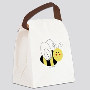 Cute Bee Canvas Lunch Bag