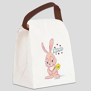 Love Bunny Canvas Lunch Bag