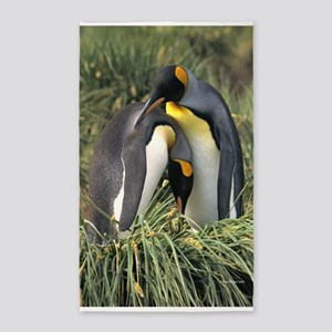King Penguin Lovers 3'x5' Area Rug