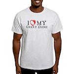 I Heart My Great Dane Light T-Shirt