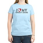I Heart My Great Dane Women's Light T-Shirt