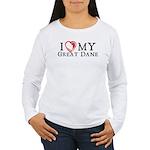I Heart My Great Dane Women's Long Sleeve T-Shirt