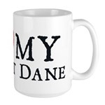 I Heart My Great Dane Large Mug
