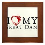 I Heart My Great Dane Framed Tile