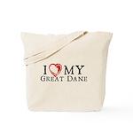 I Heart My Great Dane Tote Bag