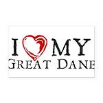 I Heart My Great Dane Rectangle Car Magnet