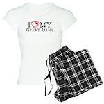 I Heart My Great Dane Women's Light Pajamas
