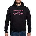 Proud Mom of a Great Dane Hoodie (dark)