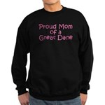 Proud Mom of a Great Dane Sweatshirt (dark)