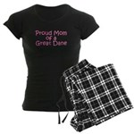 Proud Mom of a Great Dane Women's Dark Pajamas