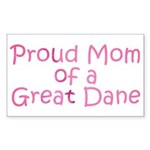 Proud Mom of a Great Dane Sticker (Rectangle)