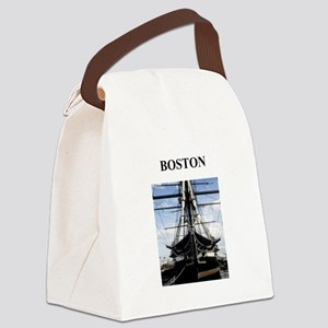 BOSTON massachusetts Canvas Lunch Bag