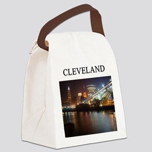 cleveland ohio Canvas Lunch Bag