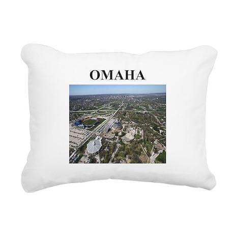omaha nebraska gifts Rectangular Canvas Pillow