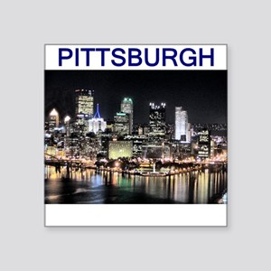 pittsburgh_test_entire_shirt_1 Square Sticker