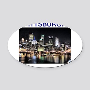 pittsburgh_test_entire_shirt_1 Oval Car Magnet
