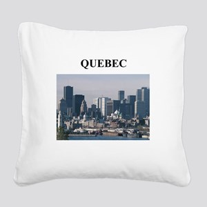 QUEBEC canada gifts Square Canvas Pillow