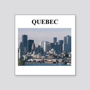 "QUEBEC canada gifts Square Sticker 3"" x 3"""