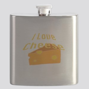 I Love Cheese Flask