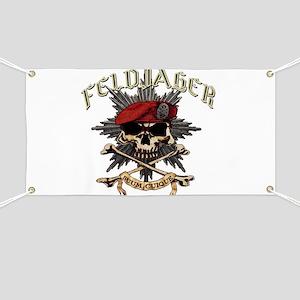Deutsch Feldjager mit Sterne Banner