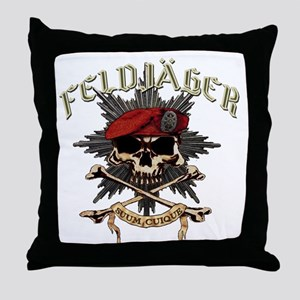 Deutsch Feldjager mit Sterne Throw Pillow