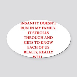 therapy Oval Car Magnet